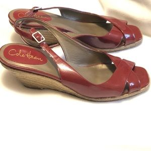 Cole Haan Women's Patent Leather Wedge Shoes